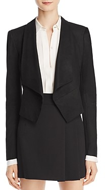 Alice + Olivia Harvey Suede Open Front Jacket