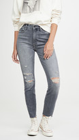 Mother High Waisted Looker Ankle Nick Fray