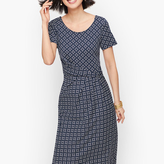 Talbots Knit Jersey Draped Sheath Dress