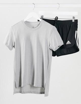 adidas Training go to t-shirt grey