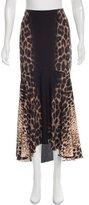 Just Cavalli Leopard Printed Maxi Skirt