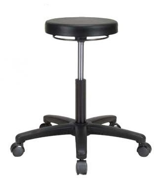 "Perch Chairs & Stools Height Adjustable Lab Stool Size: 21"" H x 24"" W x 24"" D"