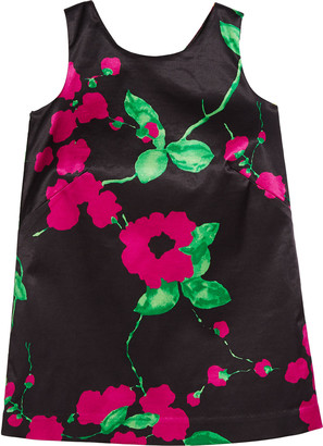 Milly Painted Floral Bow-Back Dress, Size 4-6