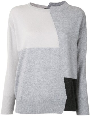 Lorena Antoniazzi Colour-Block Cashmere Jumper