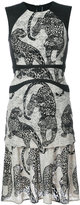 Yigal Azrouel leopard embroidery dress - women - Polyester - 12