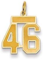 goldia 14k Gold Small Satin Number 46 Charm