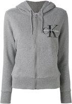 Calvin Klein Jeans logo zip hoodie - women - Cotton - S