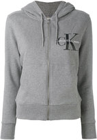 Calvin Klein Jeans logo zip hoodie - women - Cotton - XS