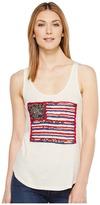 Lucky Brand Flag Patch Tank Top Women's Sleeveless
