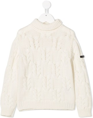 Balmain Kids Argyle-Knit Jumper
