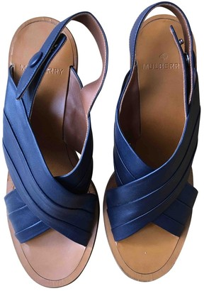 Mulberry Blue Leather Heels