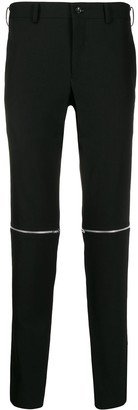 Comme des Garcons zipped knees trousers