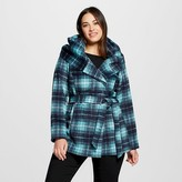 Ava & Viv Women's Plus Size Faux Wool Wrap Jacket