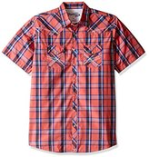 Wrangler Men's Tall Size 20x Short Sleeve Snap Woven Shirt