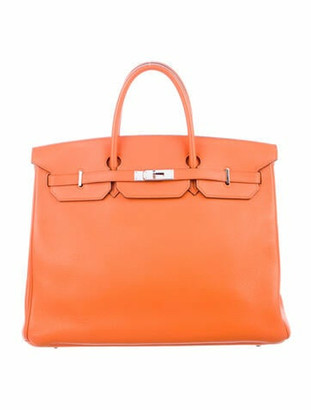 Hermes Clemence Birkin 40 Orange