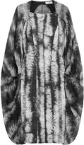 Amanda Wakeley Printed jacquard and silk-chiffon dress