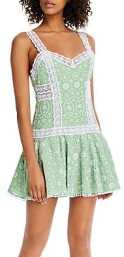 Charo Ruiz Ibiza Biba Cotton Eyelet Mini Dress
