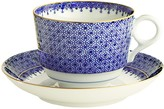 Williams-Sonoma Williams Sonoma Mottahedeh Teacup and Saucer, Blue Lace