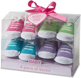 Baby Essentials Girls 4 Pack Sock Set - Sneaker