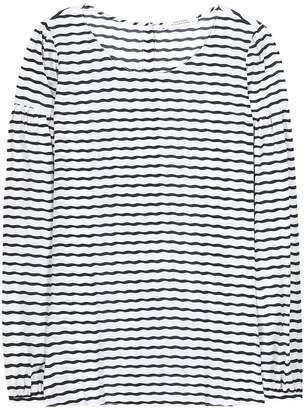 Schumacher Dorothee Curly Stripe silk-blend top