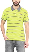 American Crew Men's Polo Collar Stripes T-Shirt -L (AC82A-L)