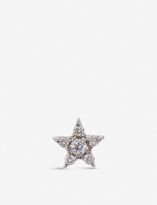 The Alkemistry Kismet by Milka 14ct rose-gold and diamond mini star earrings