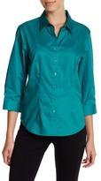 Foxcroft 3/4 Length Sleeve Perfect Shirt (Petite)