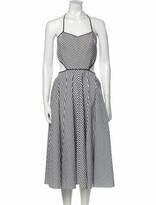 Thumbnail for your product : Michael Kors Striped Midi Length Dress Black