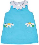 Florence Eiseman Sleeveless Pique Daisy Dress, Blue, Size 2-6X