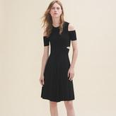 Maje Knitted off-the-shoulder dress