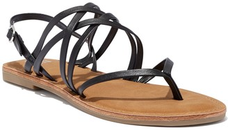 New York & Co. Crisscross-Strap Thong Sandal