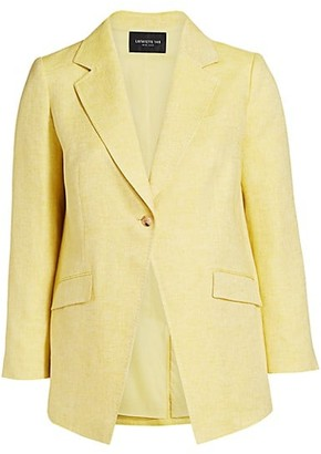 Lafayette 148 New York, Plus Size Virginia Stretch-Linen Blazer