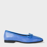 Paul Smith Women's Blue Leather 'Emlyn' Bow-Front Pumps