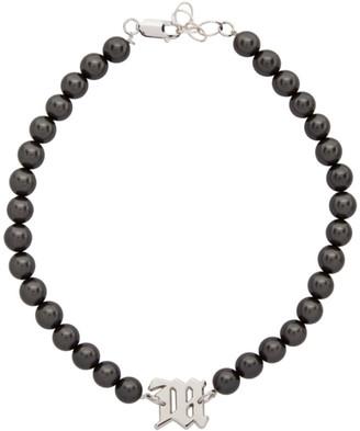 Misbhv Black Pearl Elastic Choker Necklace