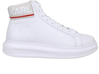 Karl Lagerfeld Paris Sneakers Kapri Mens In White Leather