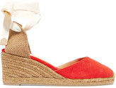 Castaner Carina Canvas Wedge Espadrilles - Tomato red