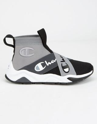 Champion Rally Crossover Concrete & Black Boys Shoes