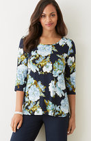 J. Jill Wearever Printed Shirttail Top