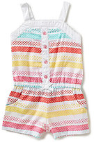 Little Me Baby Girls 12-24 Months Striped Woven Romper