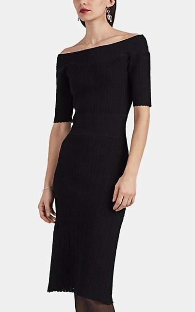 Altuzarra Women's Stansfield Compact Knit Off-The-Shoulder Dress - Black