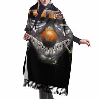 Gong Halloween Scary Horror Clown (15) Wool Scarf Pashmina Shawls Wrap for Women Cashmere Warm Winter Oversized Blanket
