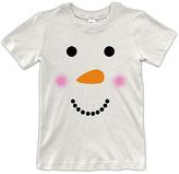 Urban Smalls Cream Snowman Face Tee - Toddler & Boys