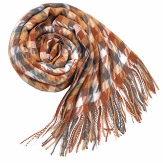 DiaryLook Plaid Warm Blanket Scarf for Winter Long Ladies Scarves Check Soft Wool Tartan Shawl Wraps for Women