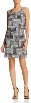 Design History Tribal Print Overlay Dress