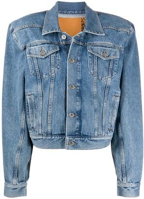 Vetements Padded-Shoulder Denim Jacket