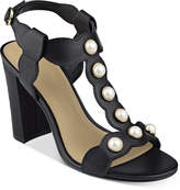Marc Fisher Kaylee Embellished Block-Heel Sandals