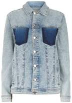 L'Agence Karina Oversized Denim Jacket