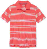 Arizona Short Sleeve Stripe Knit Polo Shirt -Boys 4-20