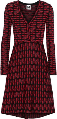 M Missoni Fluted Metallic Crochet-knit Cotton-blend Dress