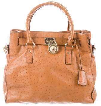 930e2bddf687b5 Michael Kors Brown Satchel Bag - ShopStyle